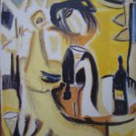 The wine drinker. Lithograph
