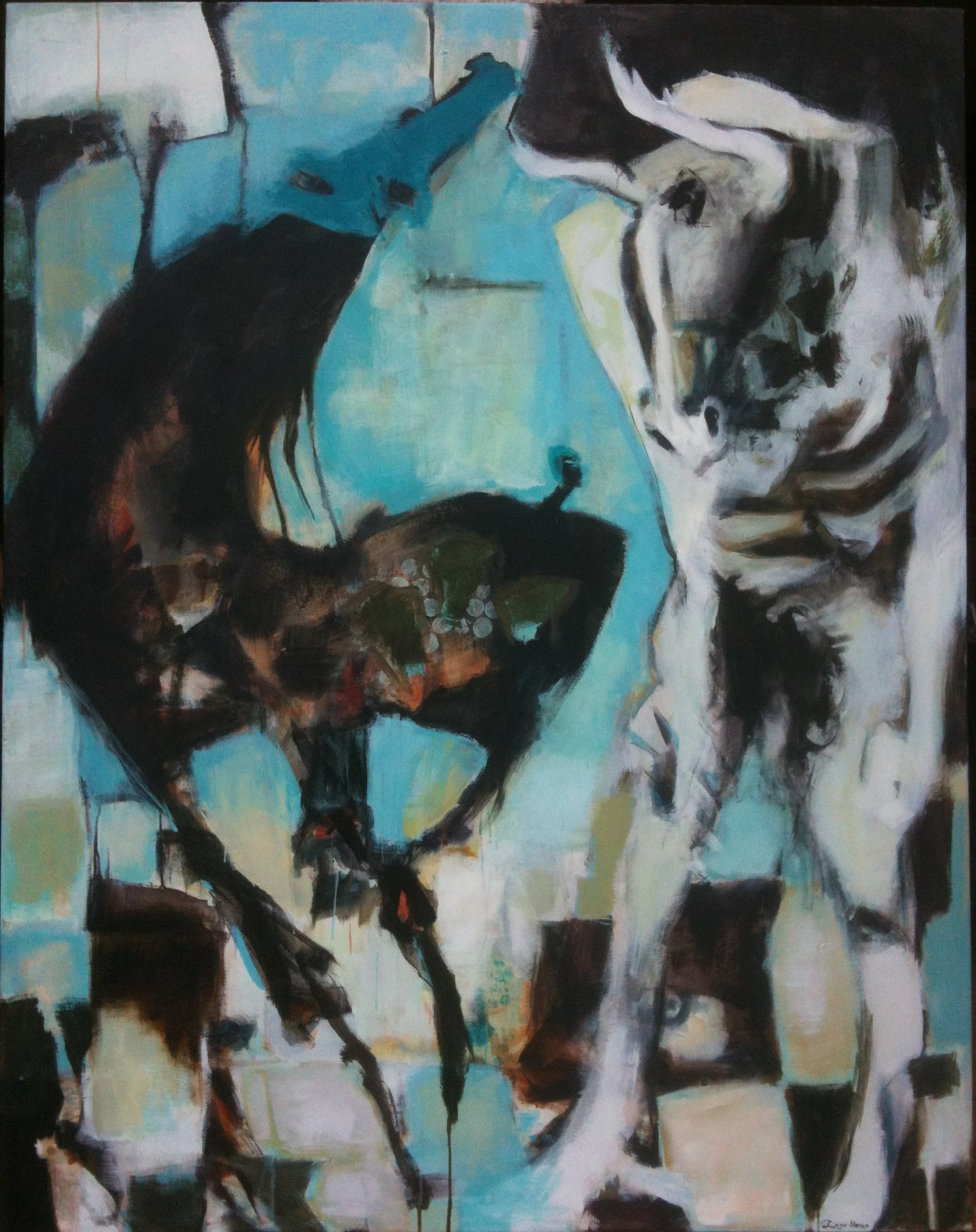 Horse and Bull